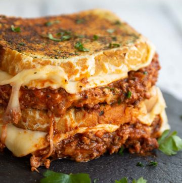 Leftover Bolognese Grilled Cheese