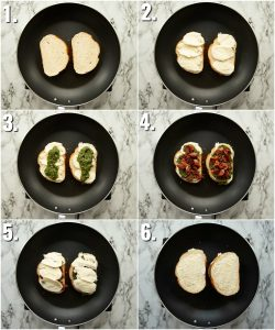 How to make a Pesto Grilled Cheese - 6 step by step photos