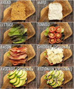 How to make a blt sandwich - 8 step by step photos