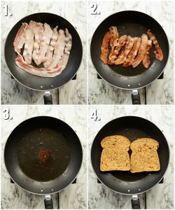 How to fry bacon for a sandwich - 4 step by step photos