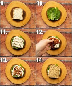 How to make chicken mayo sandwich - 6 step by step photos