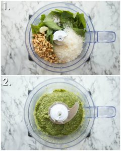 How to make pesto in a food processor - 2 step by step photos