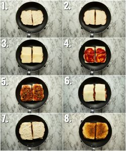 How to make pizza grilled cheese - 8 step by step photos