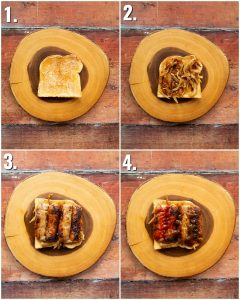 How to make sausage sandwiches - 4 step by step photos