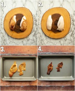 How to roast chicken skin - 4 step by step photos